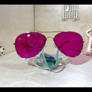Magenta Aviator Sunglasses